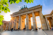 Brandenburg gate at sunset - 79927944