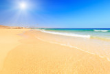 Beautiful ocean beach poster