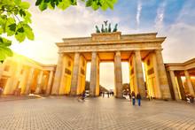"Постер, картина, фотообои ""Brandenburg gate at sunset"""