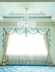 Luxury curtain - Stock Image