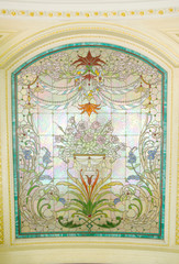 stained glass detail - Stock Image