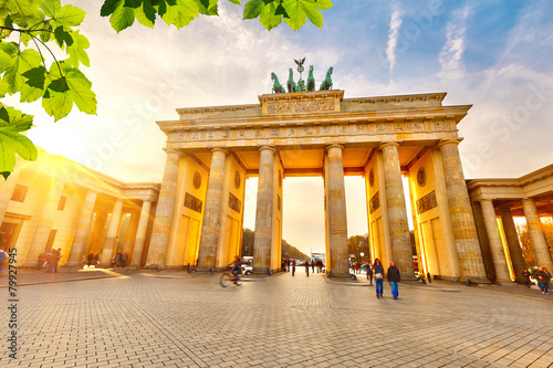 Foto op Canvas Europese Plekken Brandenburg gate at sunset