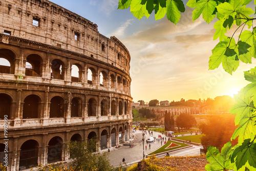 obraz PCV Colosseum na zachodzie słońca