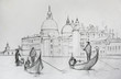 Painting of Venice Italy, painted by pencil - 79928108