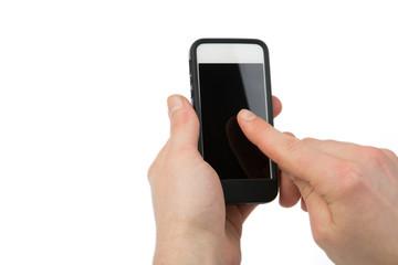 Smartphonegeste auf weiß