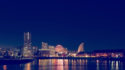 横浜の夜景・タイムラプス