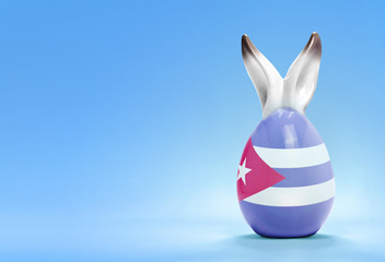 Colorful cute easter egg and the flag of Cuba .(series)