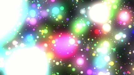Bright Multicolored Glowing Psychedelic Starfield Loop 1