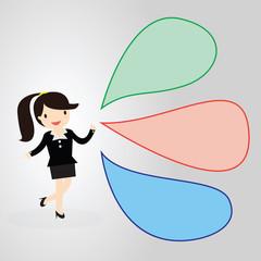 Businessman Speech bubble Concept.