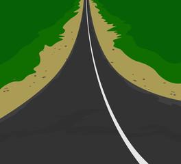 The road vector landscape scene background