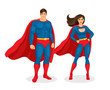 Vector Superhero Couple - 79930730