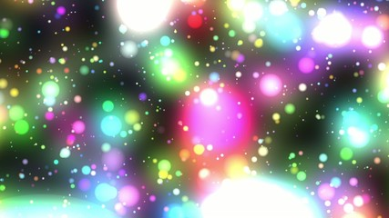 Bright Multicolored Glowing Psychedelic Starfield Loop 1rr