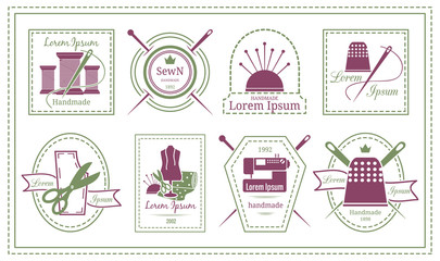 Retro Tailor Labels or Needleworks Emblems