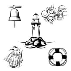 Sea design elements