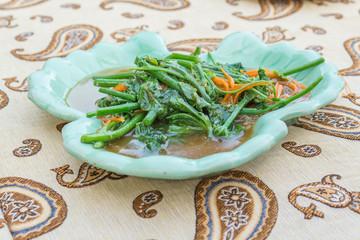 Stir-Fried Sayate Wish Salted Soya Bean