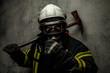 Firefighter in uniform - 79931155