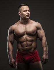 Muscular male in studio