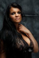 Portrait of beautiful woman in underwear.