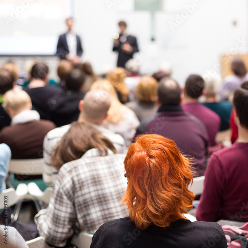 Audience in the lecture hall. - 79931103