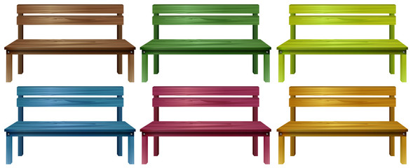 Set of benches