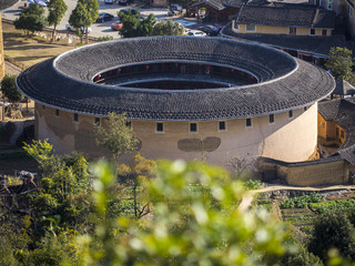 Traditional Hakka Tulou building. Fujian, China