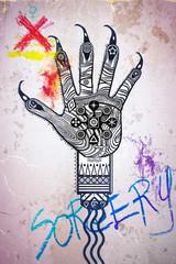 Talisman hand-sorcery