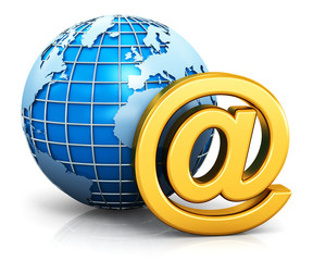 E-mail and internet communication concept