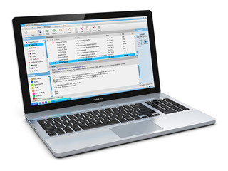 Laptop with e-mail client