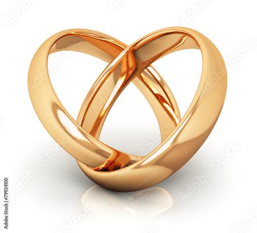Golden wedding rings - 79934100