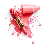Nail polish, eye shadow and lipstick