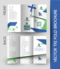 Corporate Business Tri-Fold Brochure Design