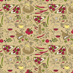 spices pattern italian