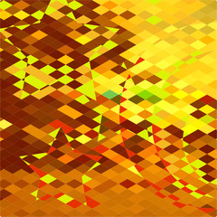 Autumnal Forest Abstract Low Polygon Background