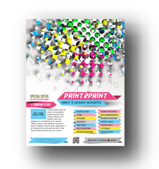 Press color management flyer & poster template