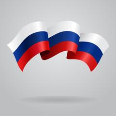 Russian waving Flag. Vector illustration