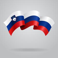 Slovenian waving Flag. Vector illustration