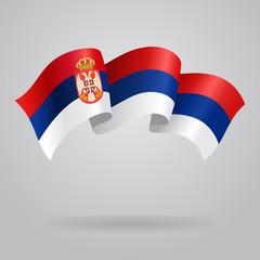 Serbian waving Flag. Vector illustration