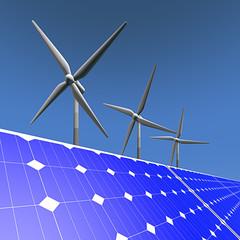 Duurzame energie - zonnepanelen en windmolens