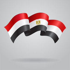 Egyptian waving Flag. Vector illustration