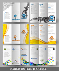 Bundle of Tri-fold Brochure Design Element