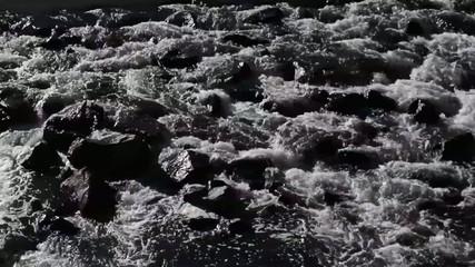 Pan across a rocky stream