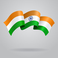 Indian waving Flag. Vector illustration