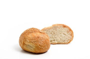 Sourdough bread isolate on white background