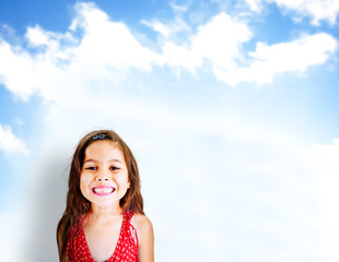 Little Girls Adorable Cheerful Smiling Concept