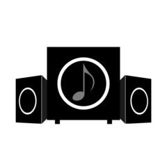 Soundsystem flat icon white