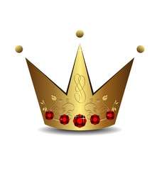 Realistic illustration of royal gold crown