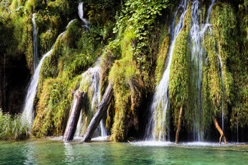 Water cascades national park, Plitvice Lakes,