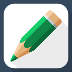 Pencil icon with long shadow