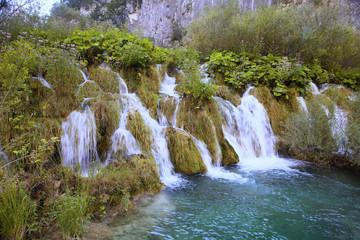 water cascade in the Plitvice, Croatia