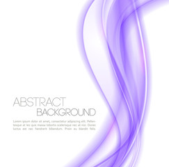 Abstract violet  waves  background. Template design
